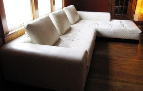 Elegant white leather couch covers