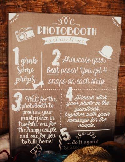 uitleg over de fotobooth