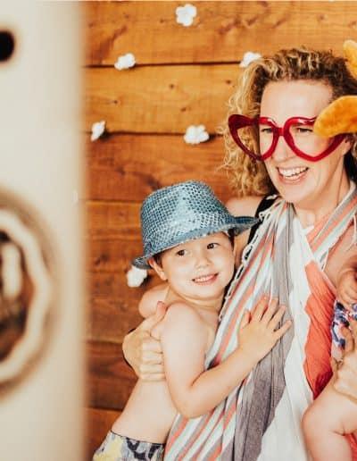 gezin en FAB fotobooth