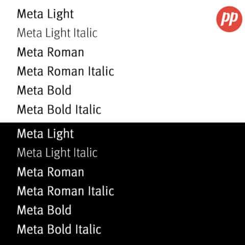 Proof Positive - Meta Font