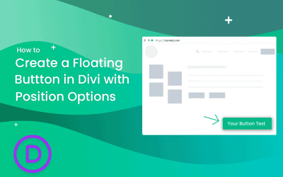 How to create a Floating button with Divi's Position Options.