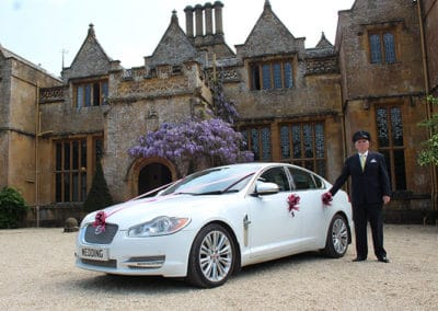 The Jaguar XJ LWB used by South West Wedding Car Hire