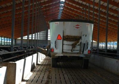 Fencline Feed Bunk Drive Through Eron Beef Precast Concrete