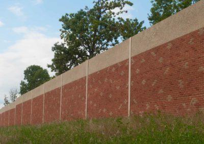Noise Wall Precast Concrete Faux Brick Green Bay
