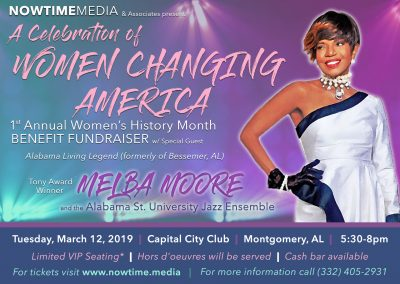 NOWTIME Media presents A Celebration of Women Changing America with Melba Moore