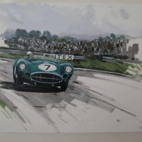 SOLD!!! Original painting of Sir Stirling Moss