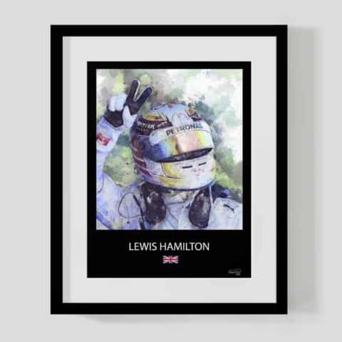 SE Lewis Hamilton 5 X World Champion FRAMED