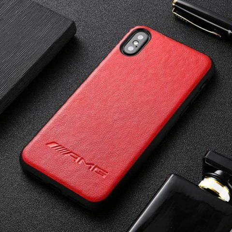 Motorsport Leather AMG Red iPhone Case