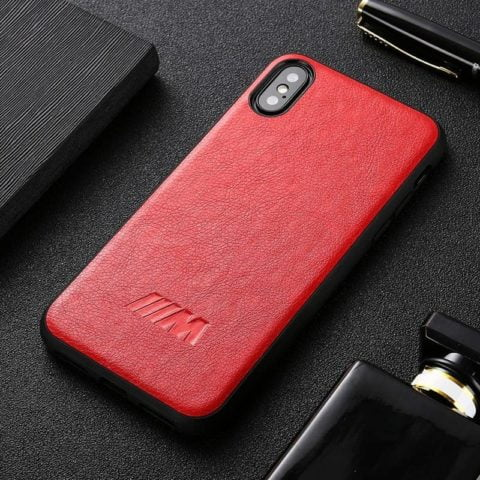 Motorsport Leather BMW M Red iPhone Case