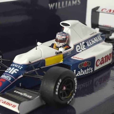 MINICHAMPS 437910105 1/43 WILLIAMS FW13B NIGEL MANSELL TEST SESSION F1 Model