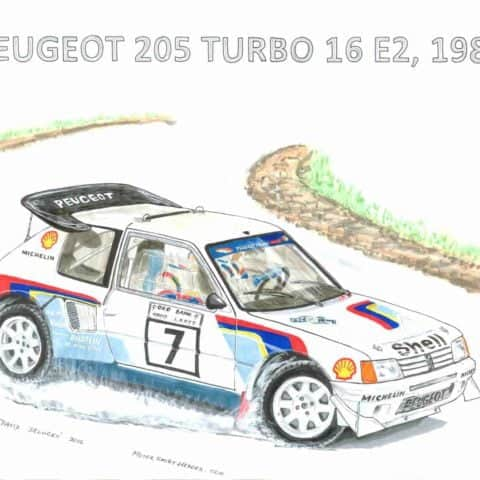 1986 - rally group B - Peugeot, 1 of 1