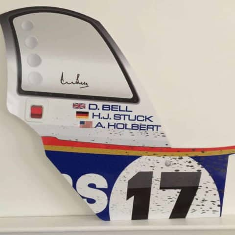 Porsche 962 Le Mans Race car panel wall art - LIMITED EDITION Signed by Derek Bell