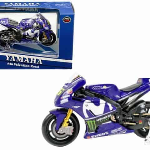 Yamaha YZR-M1 #46 Valentino Rossi Blue 1/18 Diecast Motorcycle Model by Maisto