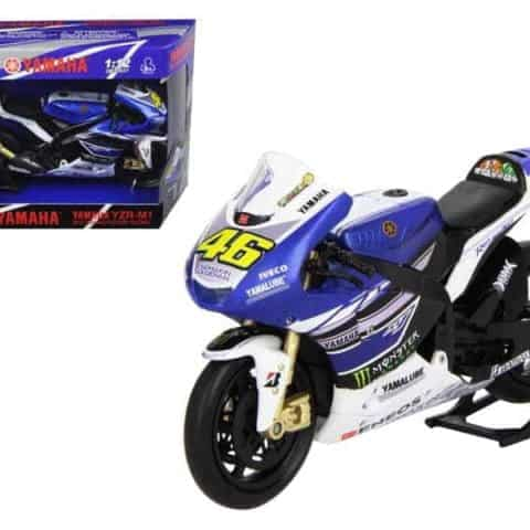 "2013 Yamaha YZR-M1 Valentino Rossi Monster"" Moto GP #46 Motorcycle Model 1/12 by New Ray"""