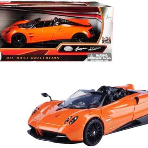 Pagani Huayra Roadster Orange 1/24 Diecast Model Car by Motormax