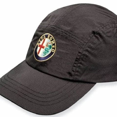 CAP Alfa Romeo Waterproof Sportscar Embroidered Logo Badge Golf Black