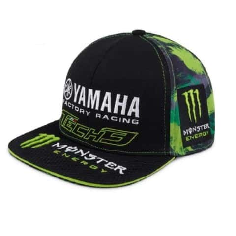 CAP Flat Peak Monster Energy Camouflage Bike MotoGP Superbike Yamaha Tech3