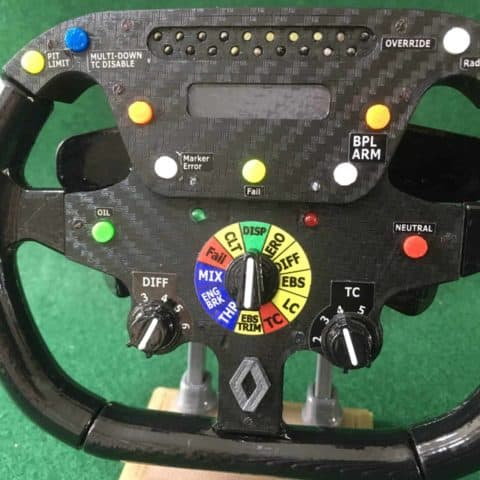 Fernando Alonso HALF SIZE replica Renault R25 steering wheel _F1. Not Amalgam.