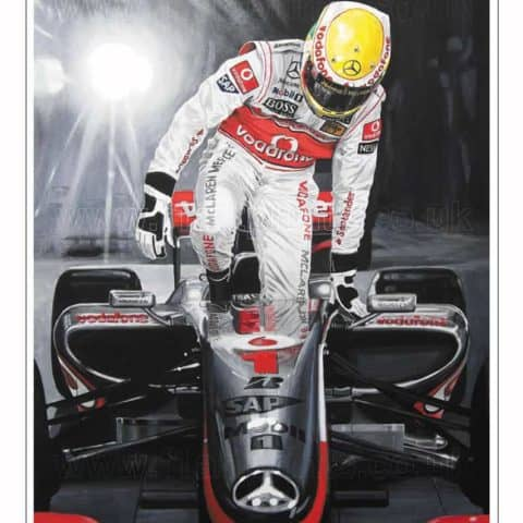 Lewis Hamilton Singapore GP Night Race 2009. McLaren Mercedes MP4/24 Limited Edition Art Print