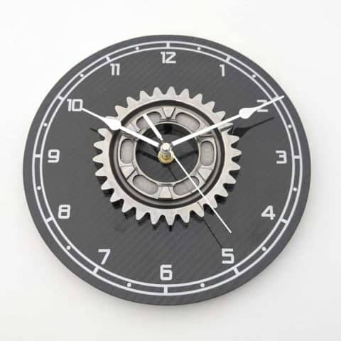 "Large 9"" Williams F1 gear workshop wall clock with real carbon fiber Formula 1 racing motorsport office gift"