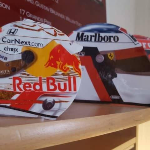 Max Verstappen F1 Red Bull 2020 Helmet Print Display Piece - Scuderia GP