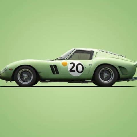 Ferrari 250 GTO - Green - 24h Le Mans - 1962 - Colors of Speed Poster