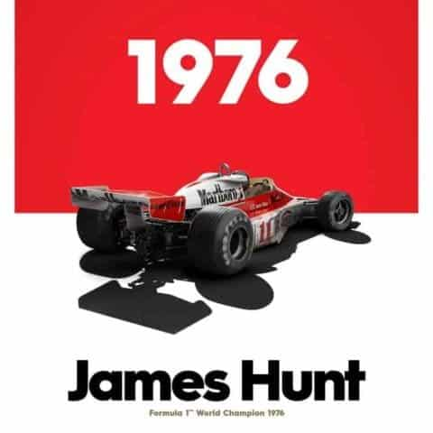McLaren M23 - James Hunt - Marlboro - Japanese GP - 1976 - Limited Poster