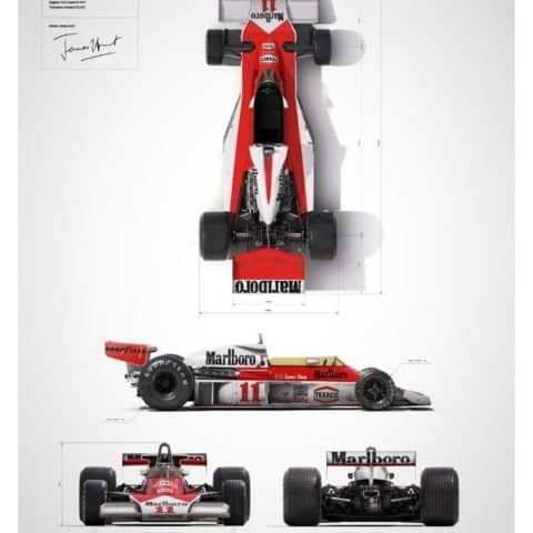 McLaren M23 - James Hunt - Blueprint - Japanese GP - 1976 - Limited Poster