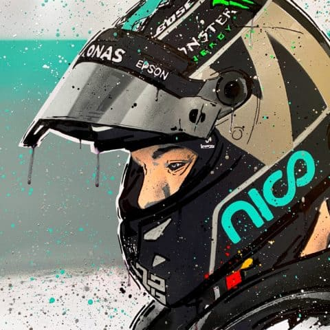 Nico Rosberg - Graffiti painting