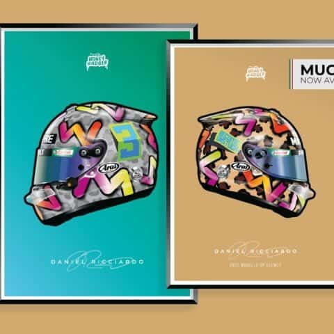 Daniel Ricciardo 2020 Helmet Poster - MUGELLO NOW AVAILABLE