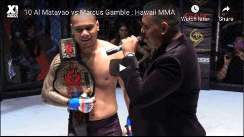 10 Al Matavao vs Marcus Gamble : Hawaii MMA