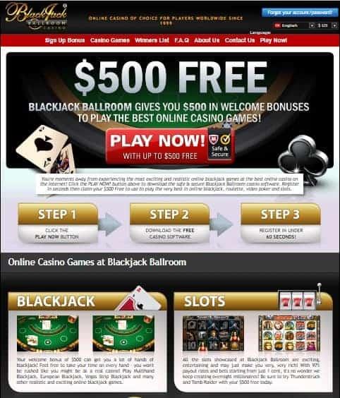 Blackjack Ball Room Casino Review