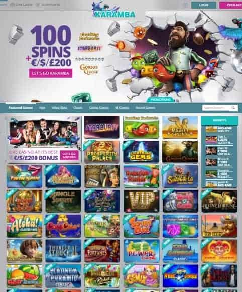 Karamba Casino 20 free spins no deposit bonus - exclusive promotion