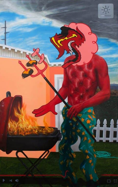 Trey Abdella - Backyard BBQ - Acrylic on canvas