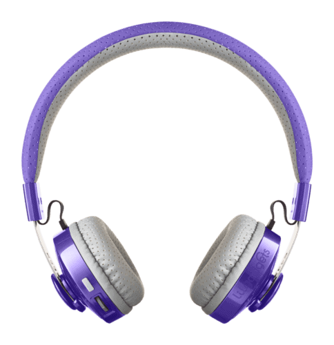 Blue tooth headphones from lil gadgets come inb bright colors, sized for kids ' heads.