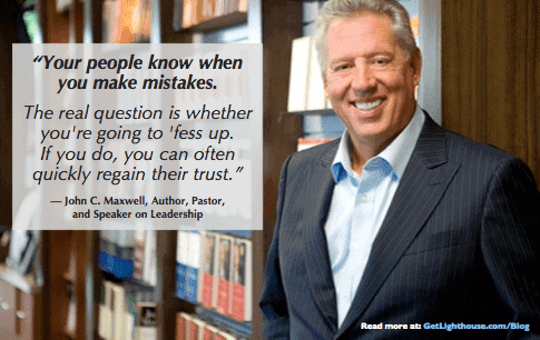 John C Maxwell knows you need to embrace failing