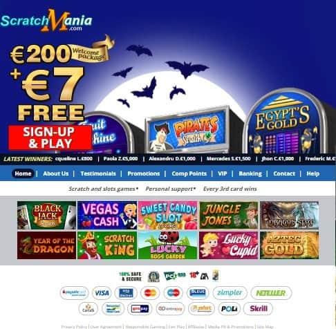 Scratch Mania Casino Review