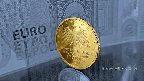 Gold, Goldmünze, Euro, BRD (Foto: Goldreporter)