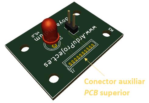 Boya Iridium con Arduino | Conector auxiliar, PCB superior