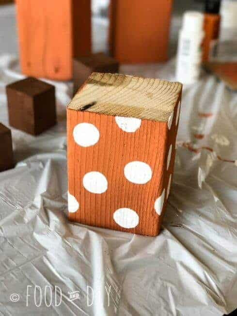 Easy DIY Wood Pumpkins. Simple, fun, fall decor that has that rustic vibe that is so popular right now!