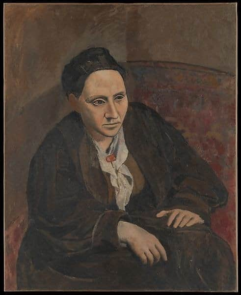 Picasso's portrait of friend and patron Gertrude Stein, 1905-1906