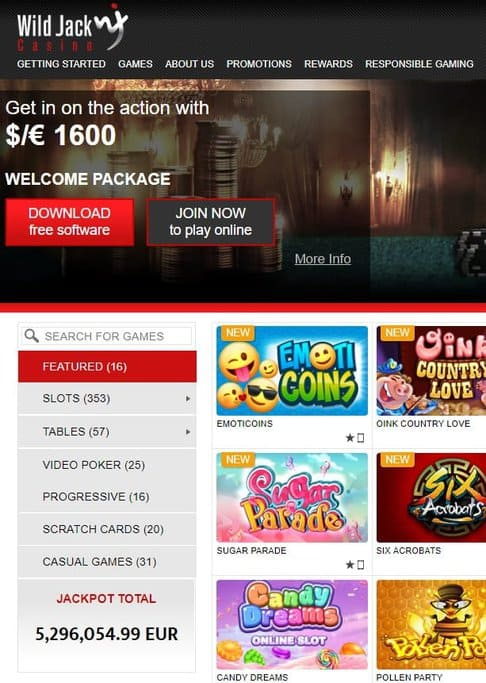 Wild Jack Casino Review: online slots, table games, live dealer and jackpots!