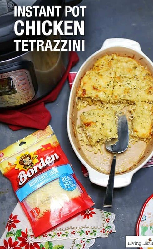 Easy Instant Pot Chicken Tetrazzini recipe made in a pressure cooker. A chicken pasta dish the whole family will enjoy for dinner.
