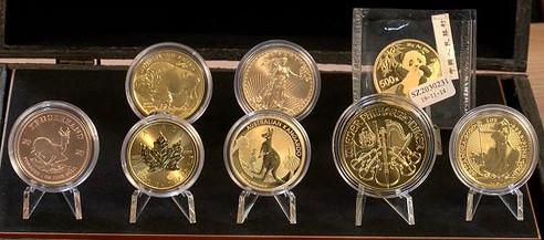 Gold, Goldmünzen, beste
