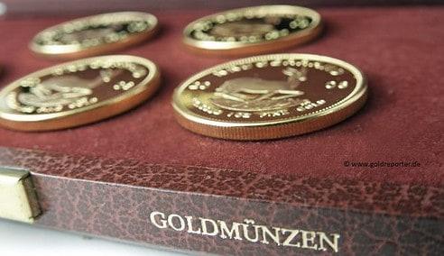 Gold, Goldmünzen, Krügerrand (Foto: Goldreporter).