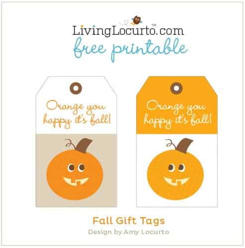 Free Printable Fall Gift Tags by Amy Locurto at LivingLocurto.com