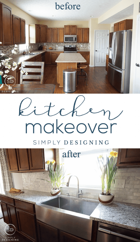 Kitchen Reveal before and after photos and plan