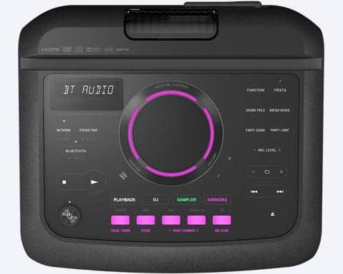 Consola controles Sony MHC-V77DW