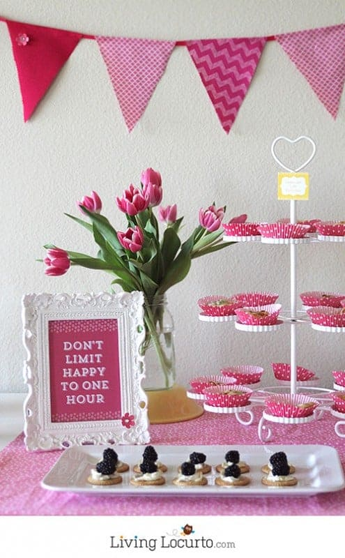 Simple & Fun Happy Hour Party Ideas and Free Printables! LivingLocurto.com