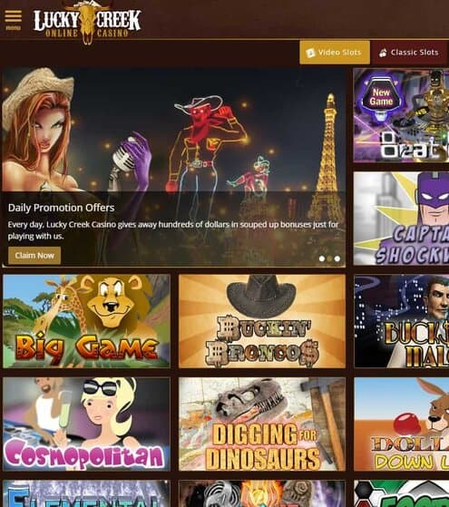 Lucky Creek Casino Free Spins & Free Chips